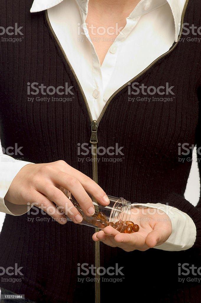 taking pills royalty-free stock photo