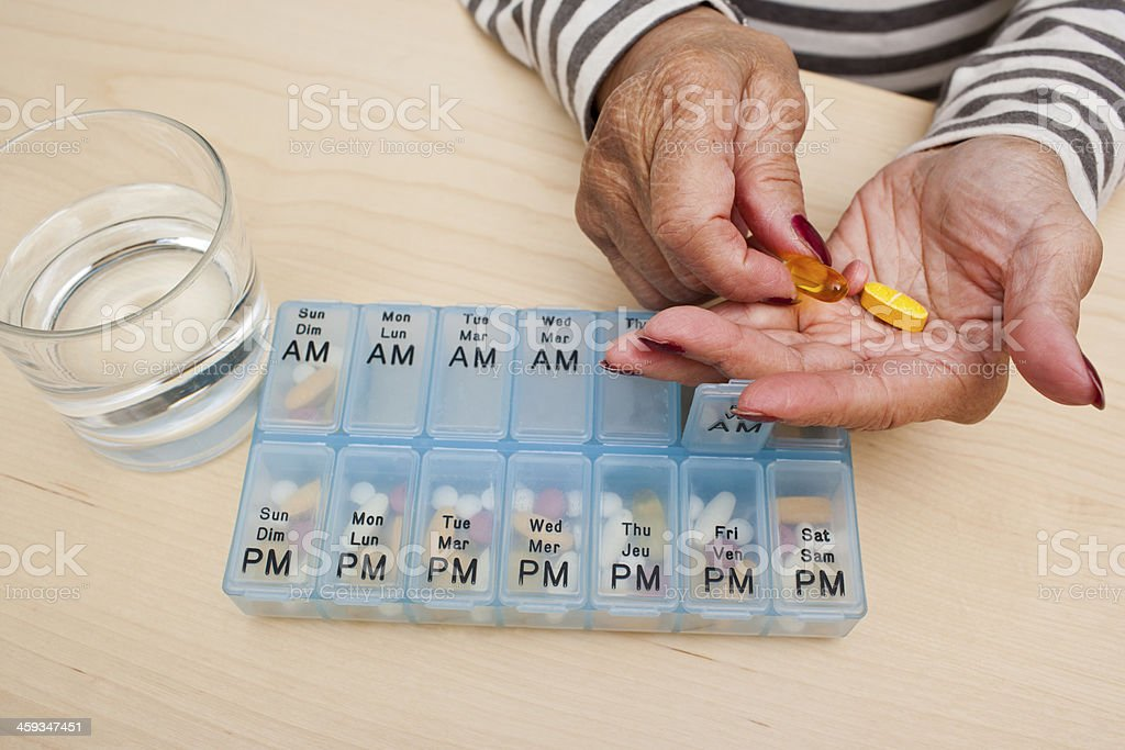 Taking Pills stock photo