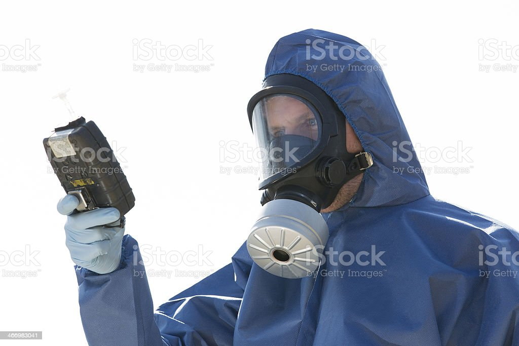 Taking samples of the air, research stock photo