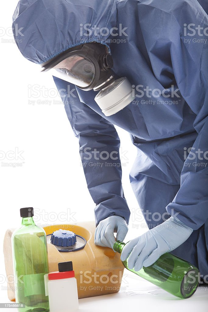 Taking samples of the soil, environmental research royalty-free stock photo