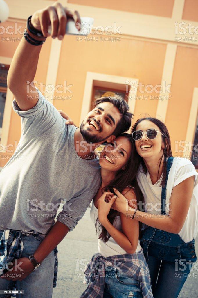 Taking selfie. stock photo