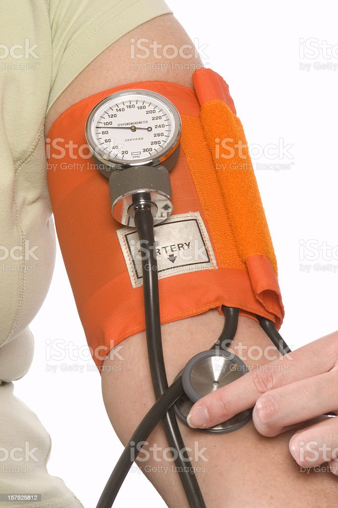 Taking Senior Blood Pressure stock photo