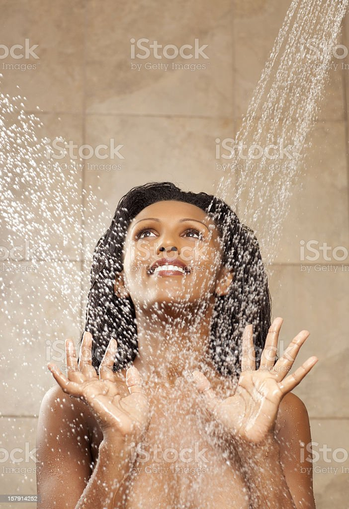 Taking shower. royalty-free stock photo