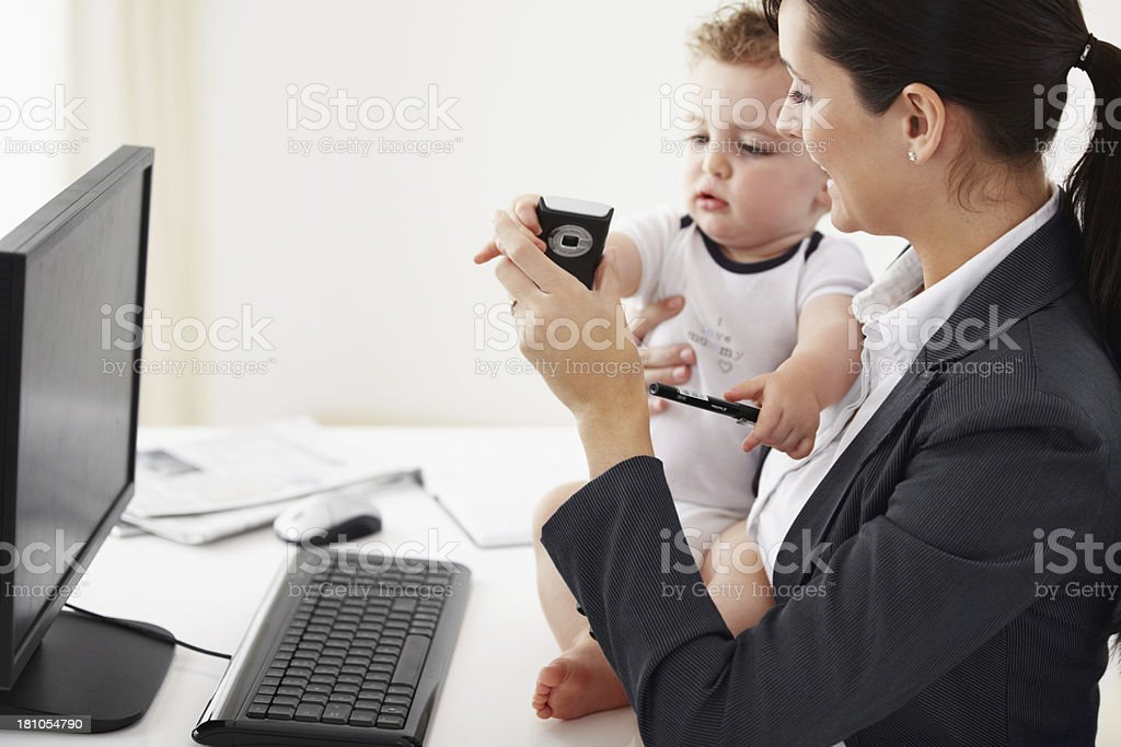 Taking some time to bond while on the job royalty-free stock photo
