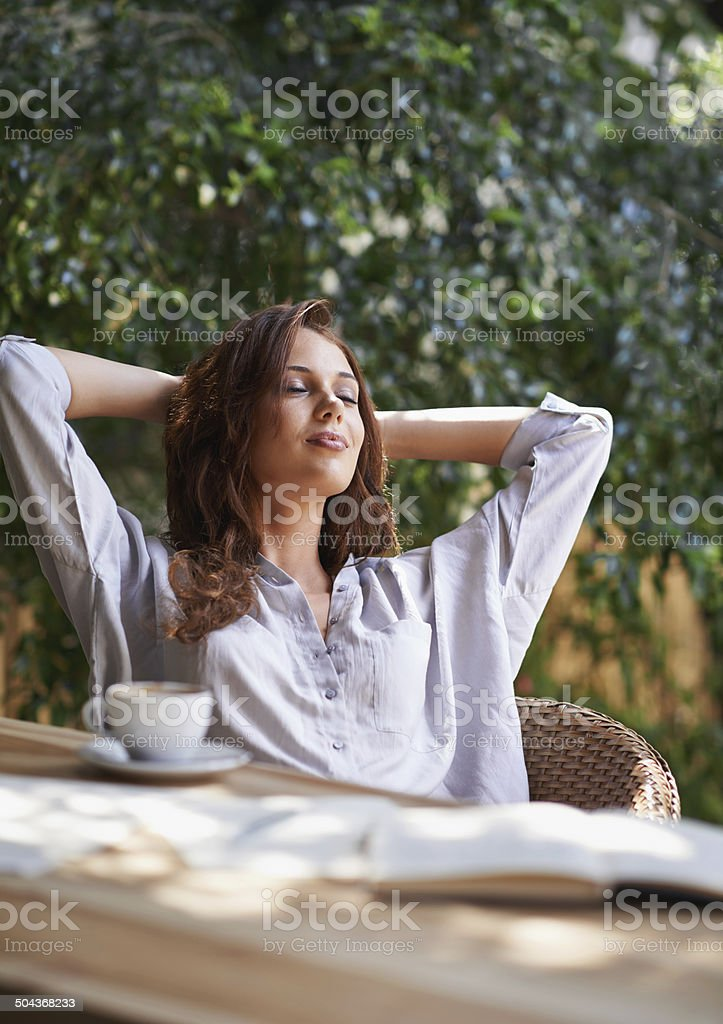 Taking some time to relax stock photo