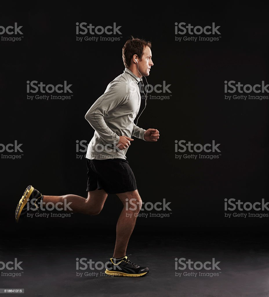 Taking steps towards fitness stock photo