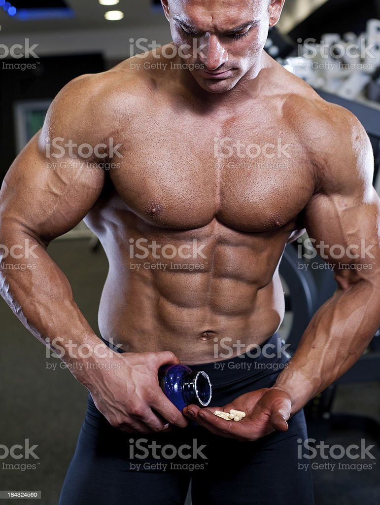 Taking Supplements royalty-free stock photo
