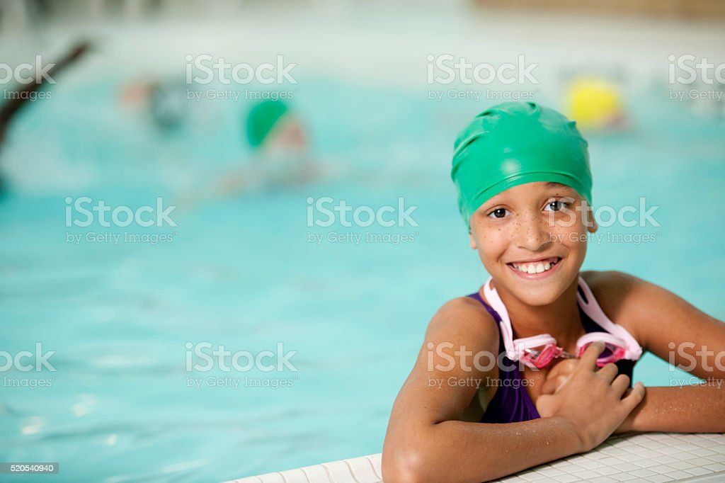 Taking Swimming Lessons stock photo