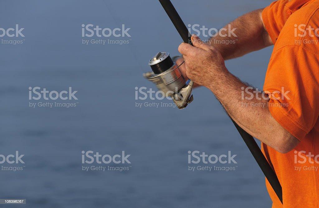 Taking the bait stock photo
