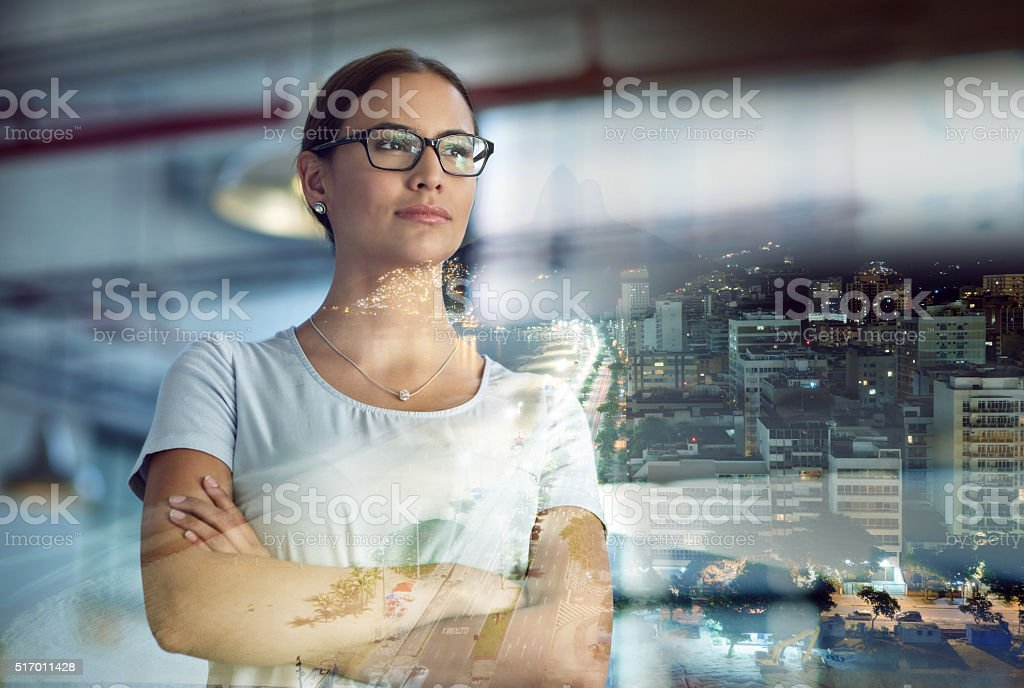 Taking the city by storm stock photo