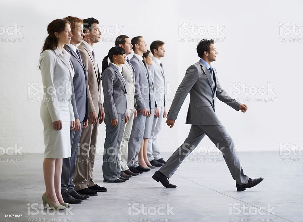 Taking the first step - Ambition stock photo