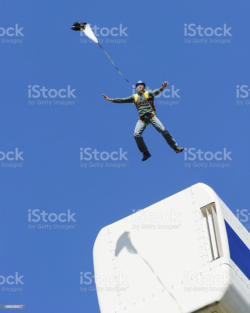 Taking the leap stock photo
