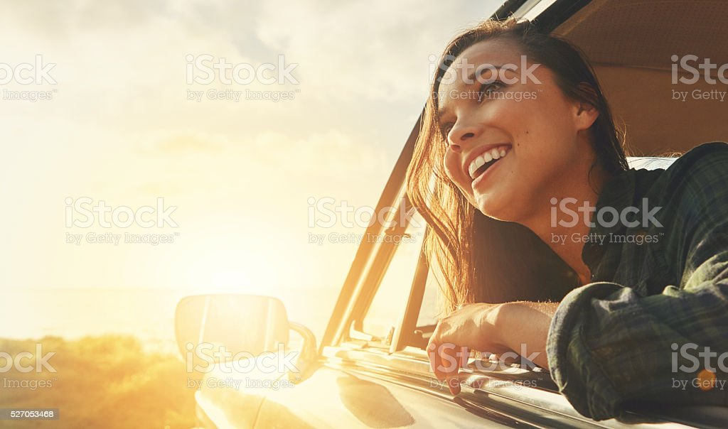 Taking the scenic route stock photo