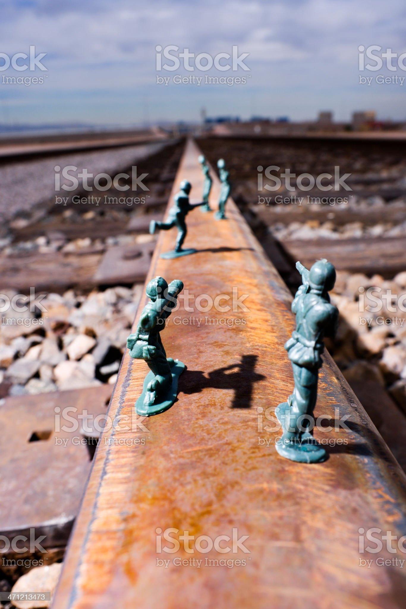 Taking the Tracks royalty-free stock photo