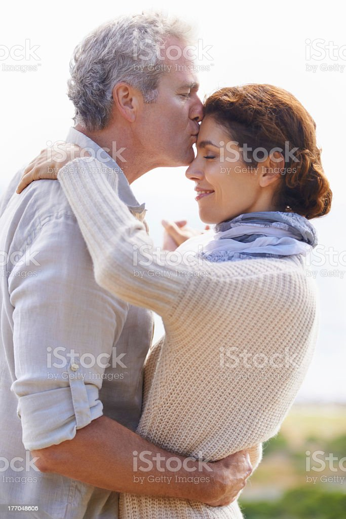 Taking time for a tender moment royalty-free stock photo