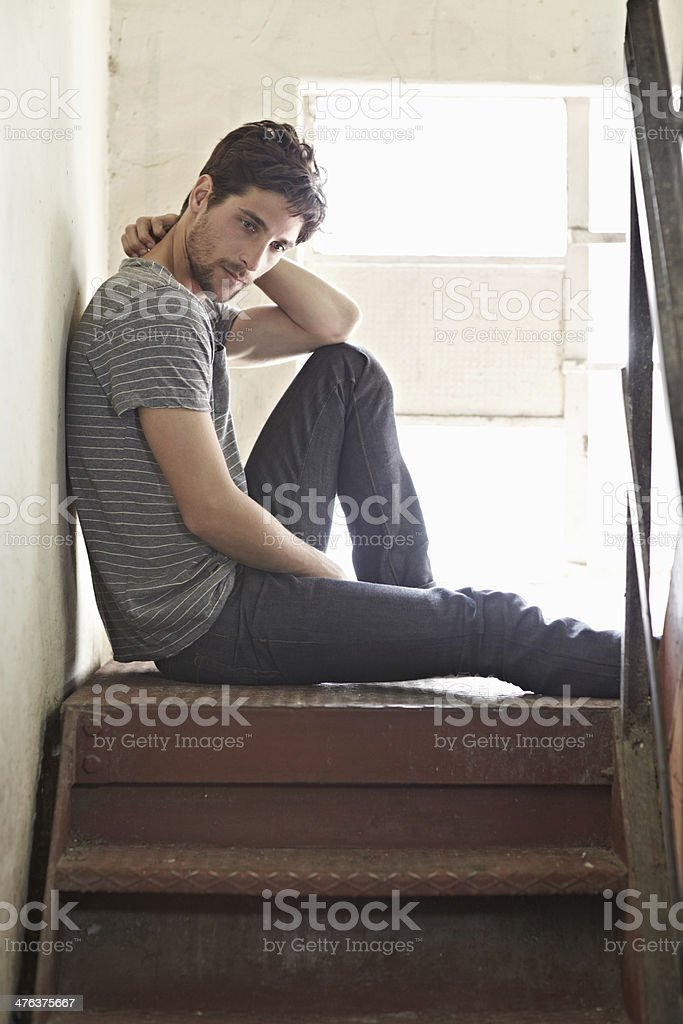 Taking time to chill stock photo