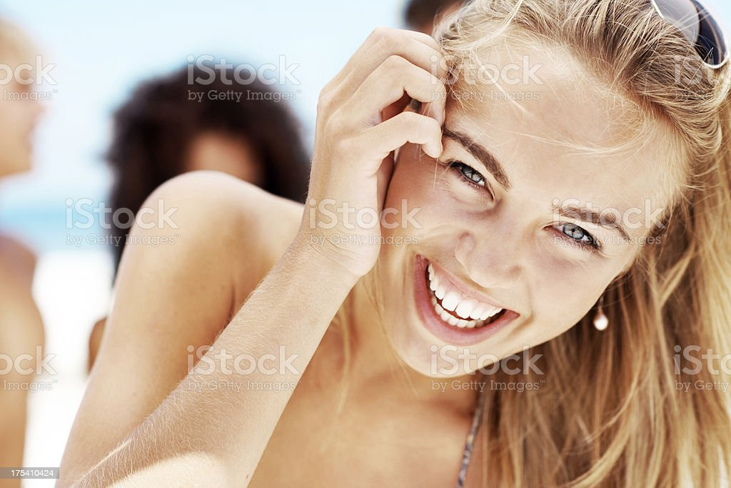 Taking time to enjoy my summer holidays royalty-free stock photo