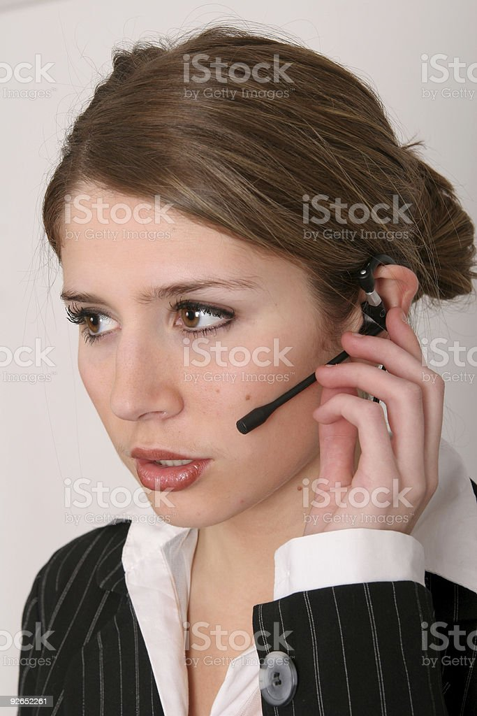 Taking your call stock photo