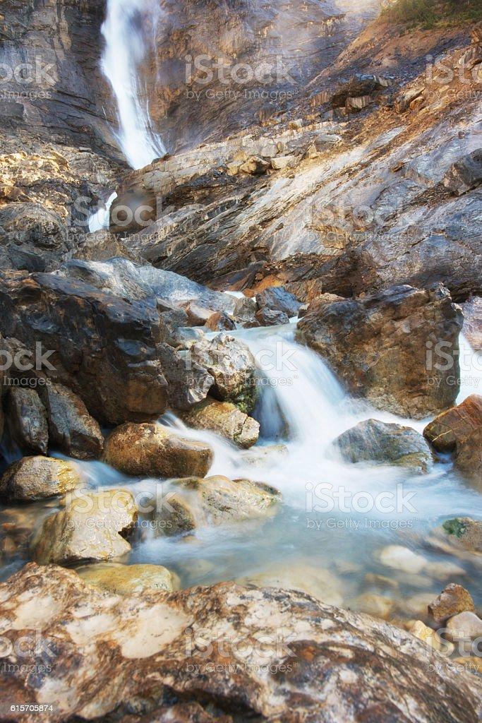 Takkakaw Falls, Yoho,Canadian Rockies stock photo