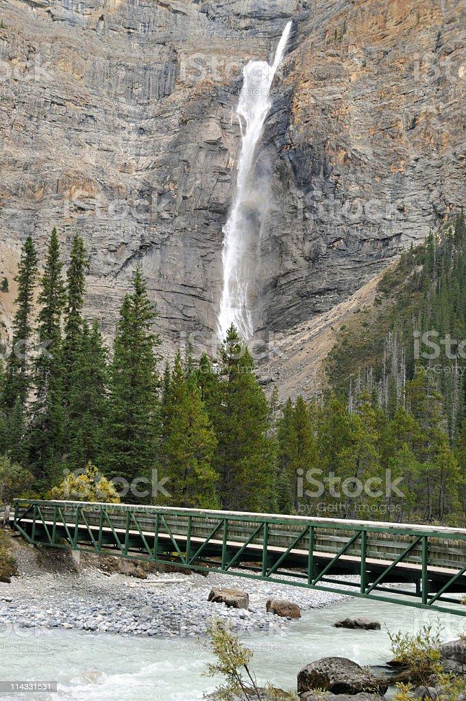 Takkakaw Falls,Yoho National Park,British Columbia,Canada stock photo