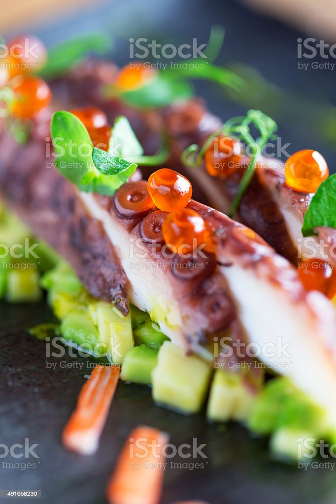 Tako (octopus) sashimi stock photo