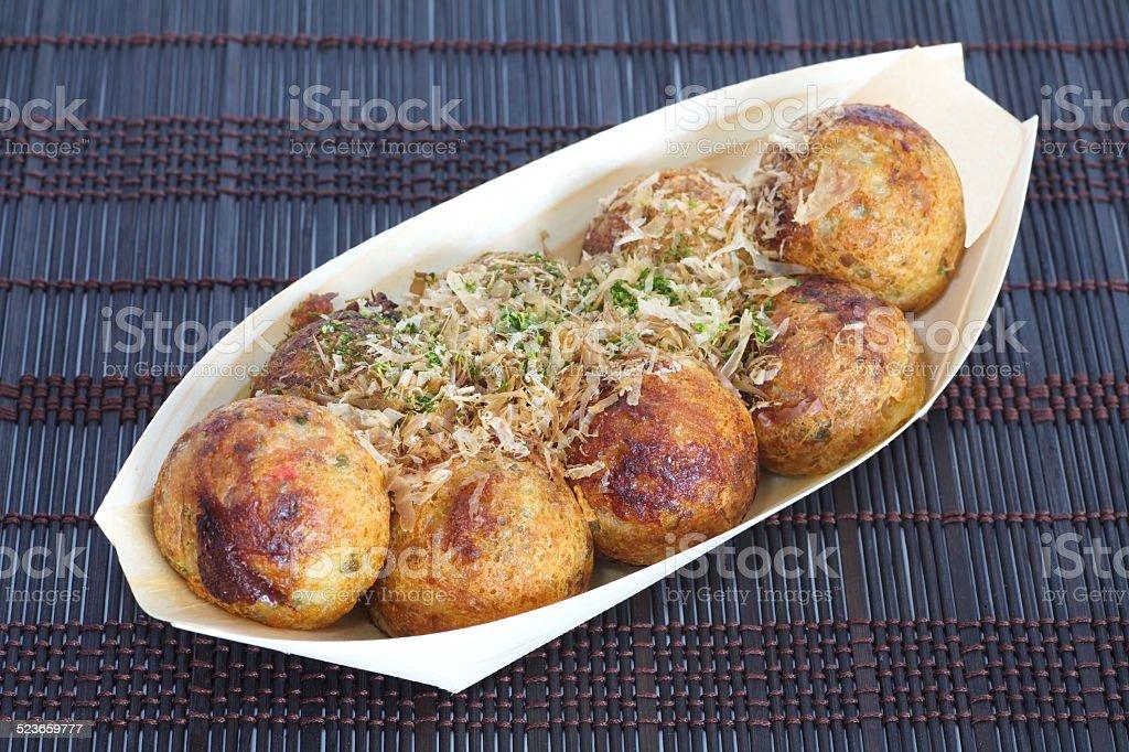 Takoyaki ball stock photo