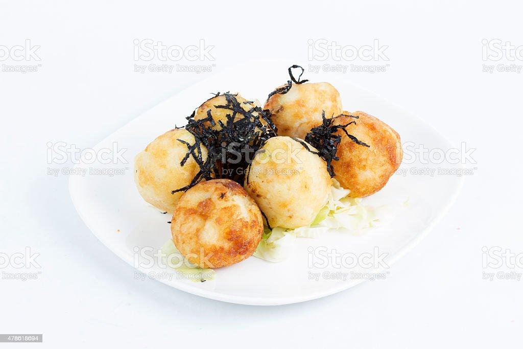 Takoyaki balls dumpling stock photo