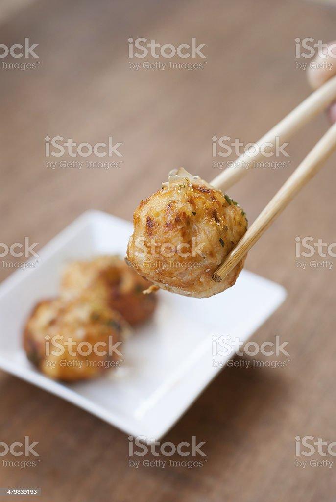 Takoyaki : Meat balls as Japanese style stock photo