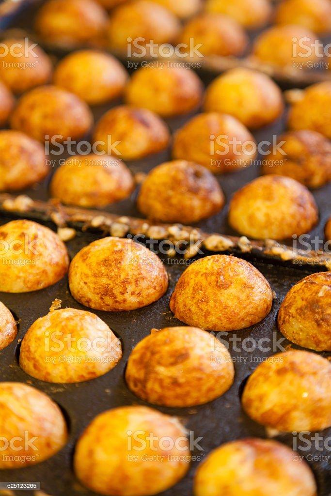 Takoyaki - Octopus ball, a popular Japanese street food stock photo