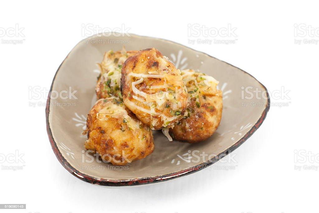 Takoyaki octopus balls - Japanese food stock photo