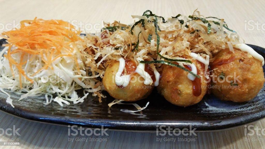 Takoyaki stock photo