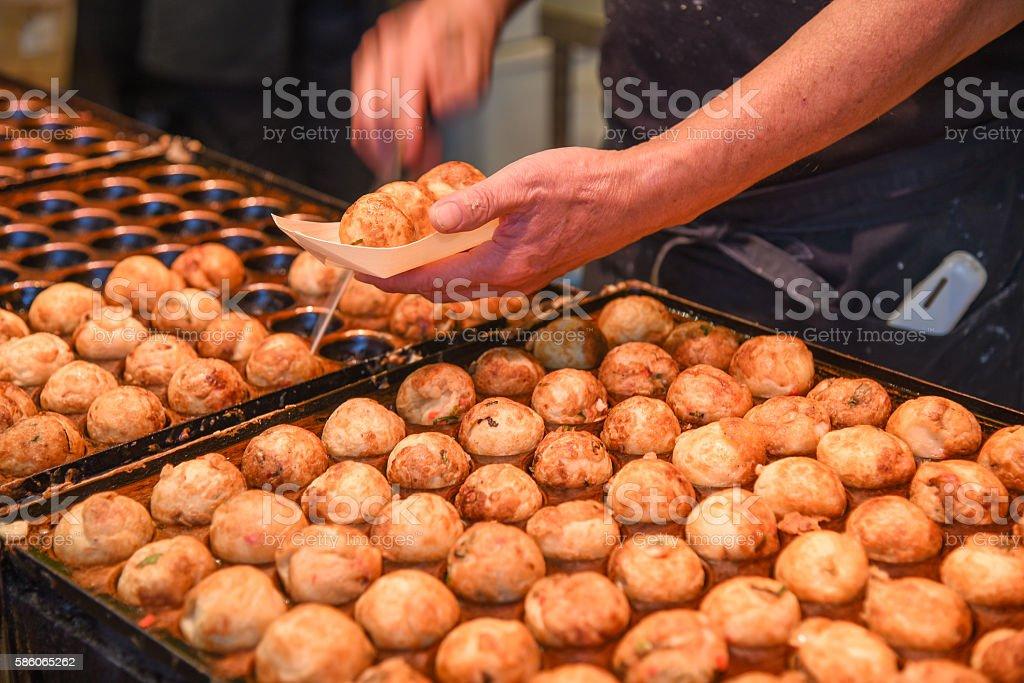 Takoyaki, popular japanese street food stock photo