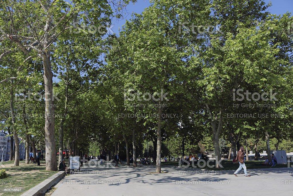 Taksim Gezi Park stock photo