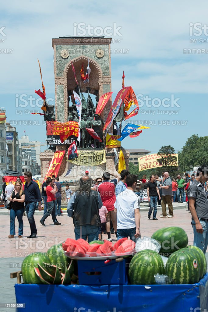 Taksim Gezi Park protests in istanbul royalty-free stock photo