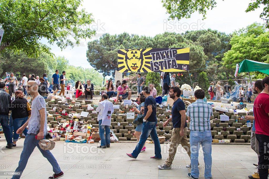 Taksim Gezi Park protests in Istanbul, Turkey stock photo
