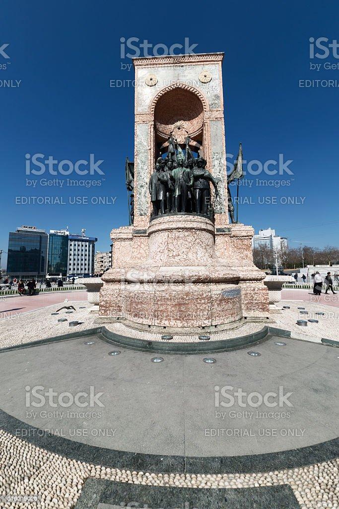 Taksim Monument in Istanbul stock photo