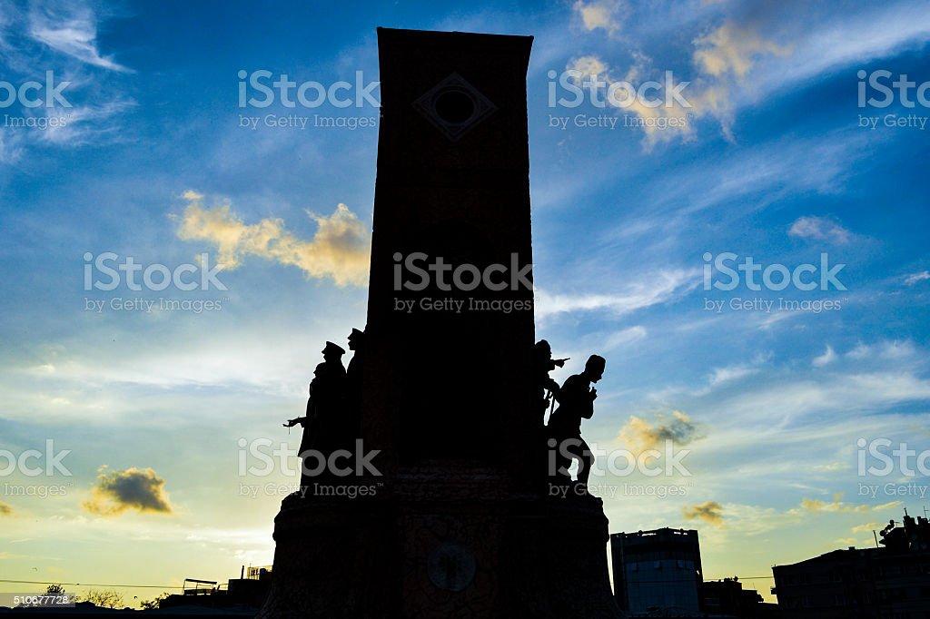 Taksim silhouette stock photo