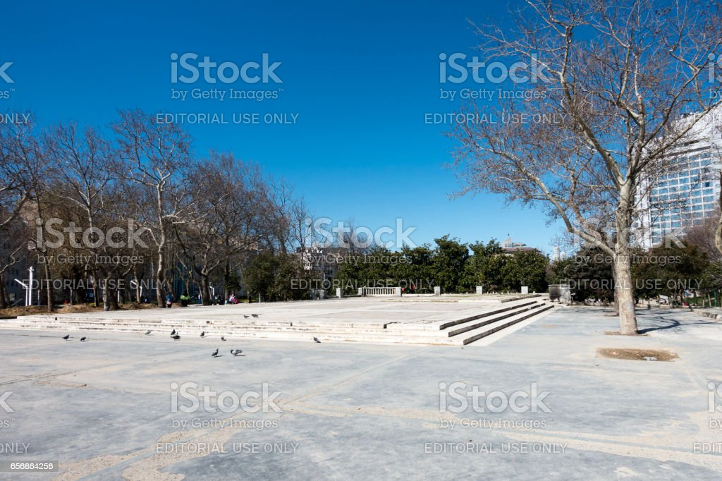 Taksim square in Istanbul City stock photo