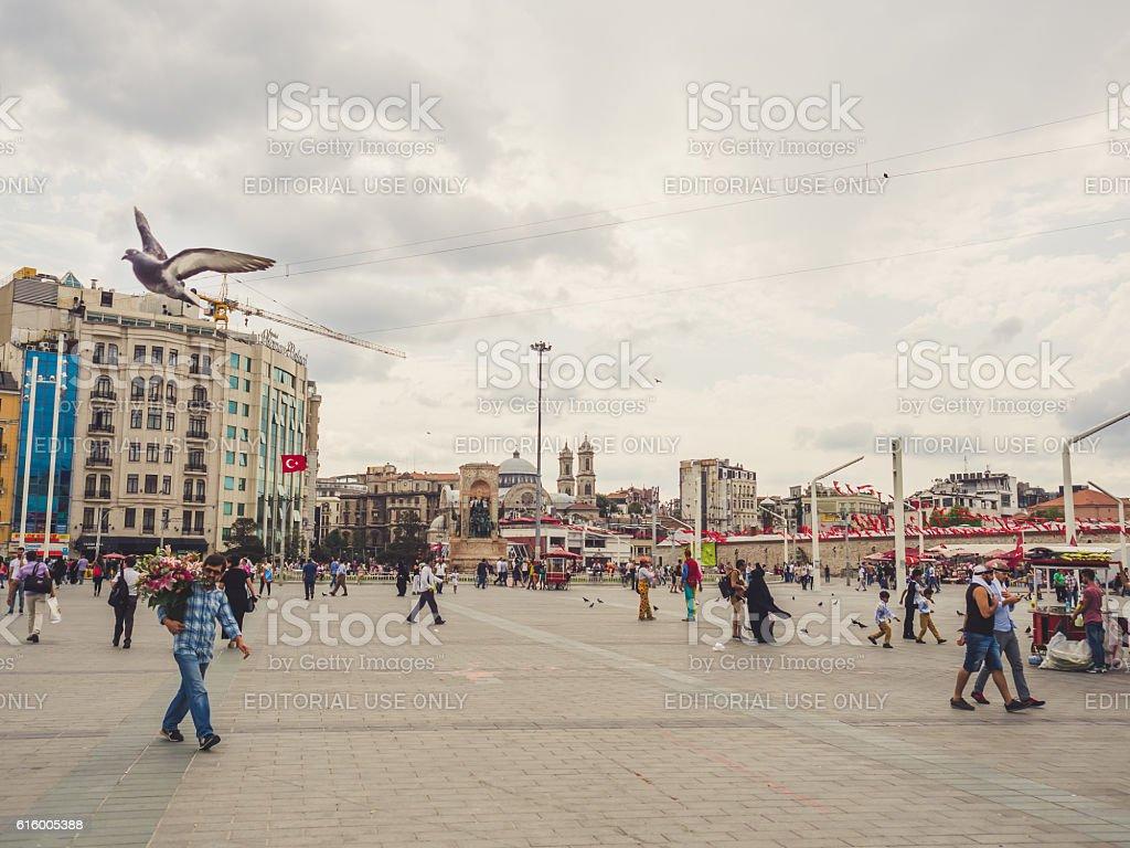 Taksim square in Istanbul. stock photo