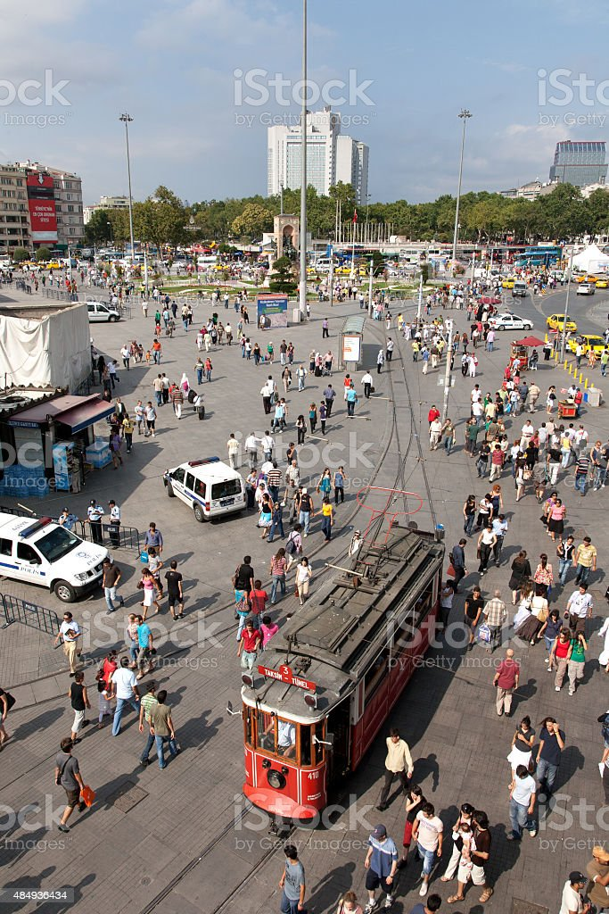 Taksim Square -İstanbul stock photo
