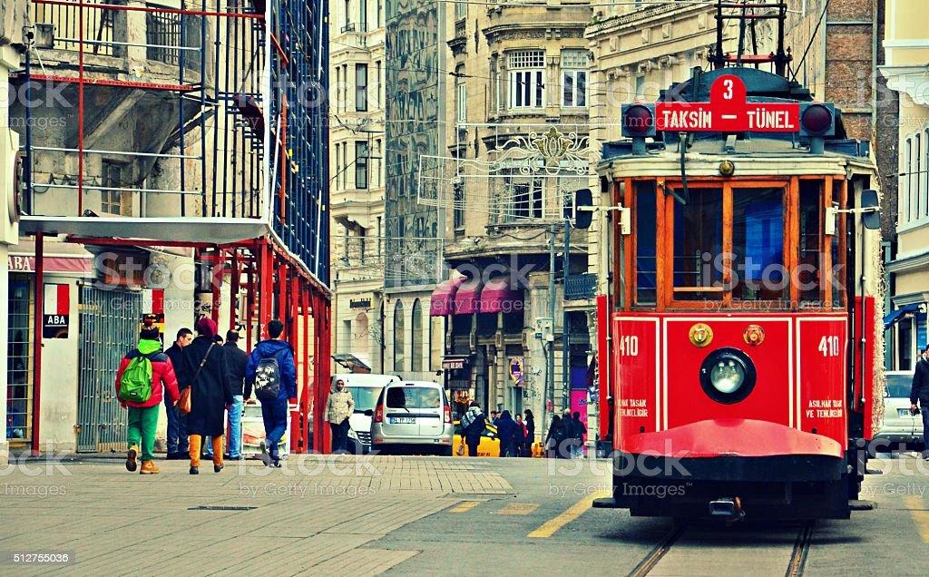 Taksim Tramway stock photo