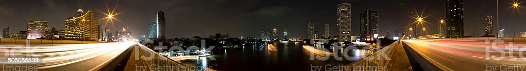 taksin bridge bangkok stock photo