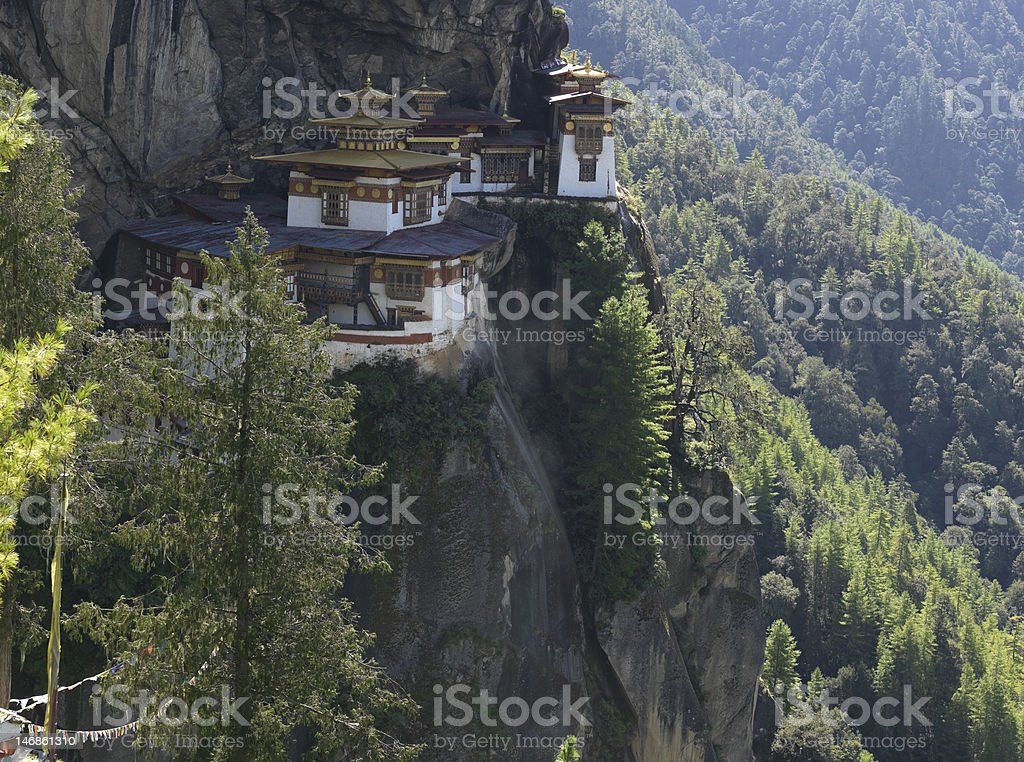 Taktsang Lakhang, Tigers Nest Monastery royalty-free stock photo