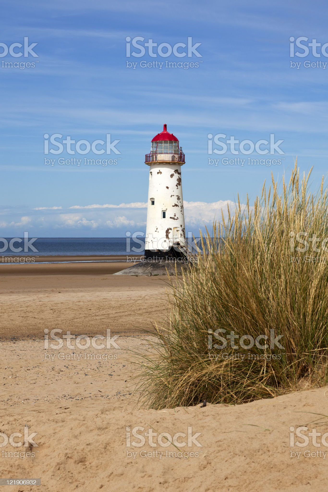 Talacre lighthouse, Liverpool Bay, North Wales royalty-free stock photo