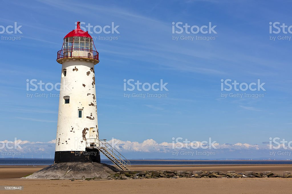 Talacre lighthouse royalty-free stock photo