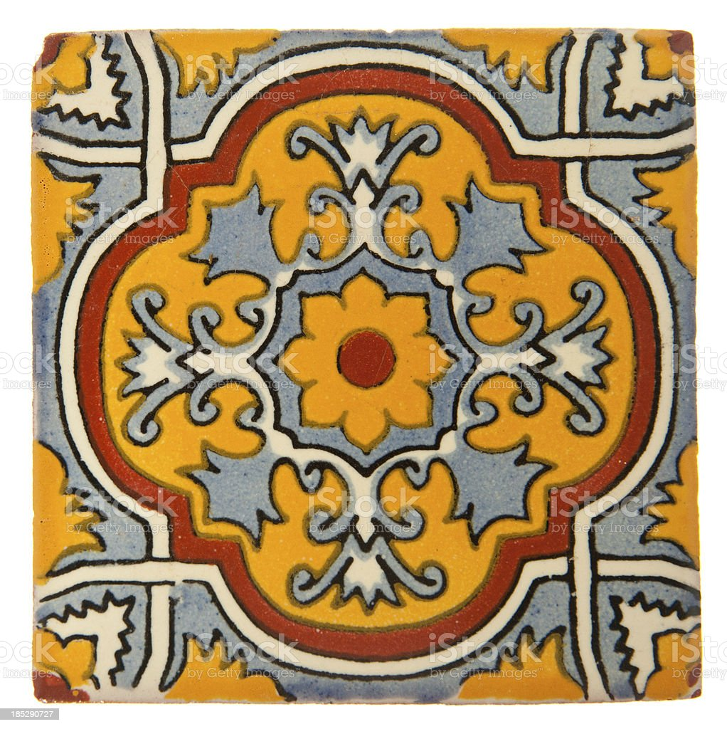 'Handcrafted Mexican Ceramic Tile, Talavera' stock photo