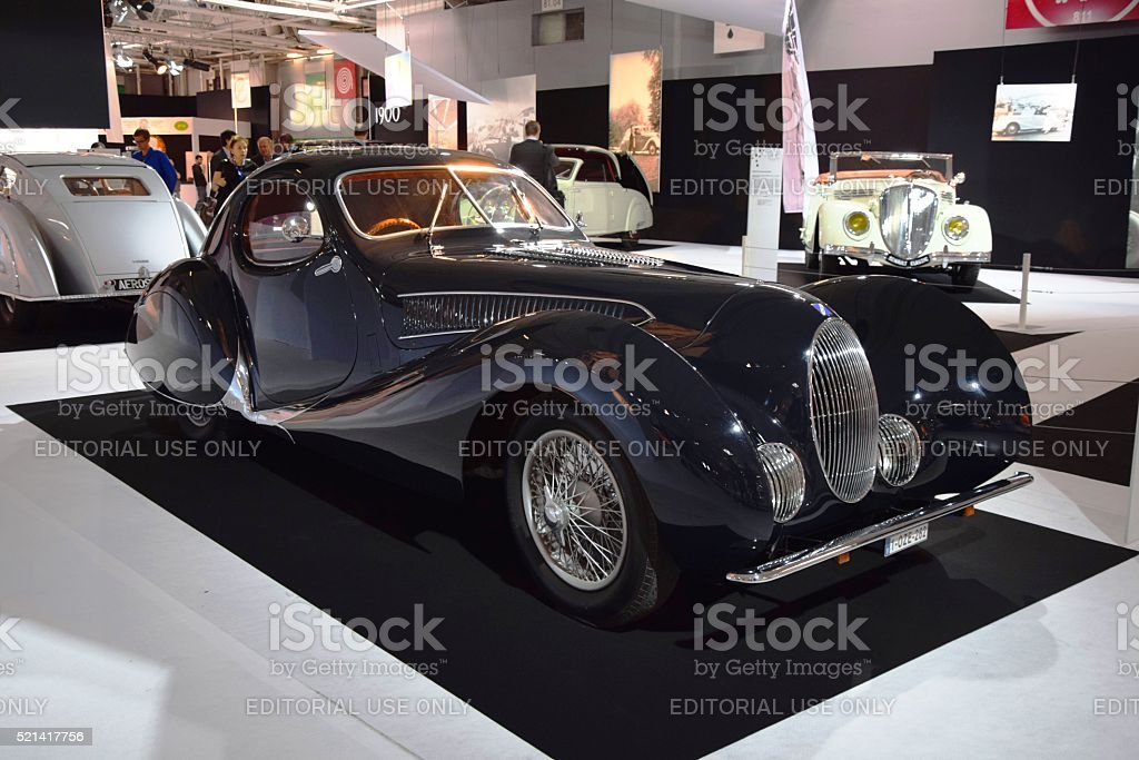 Talbot Lago on the statical presentation stock photo