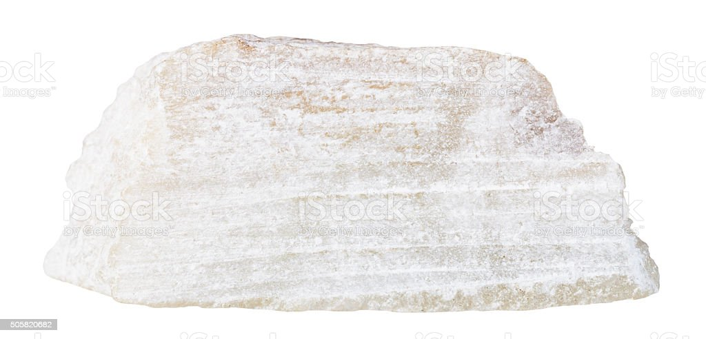 talc mineral stone isolated on white stock photo