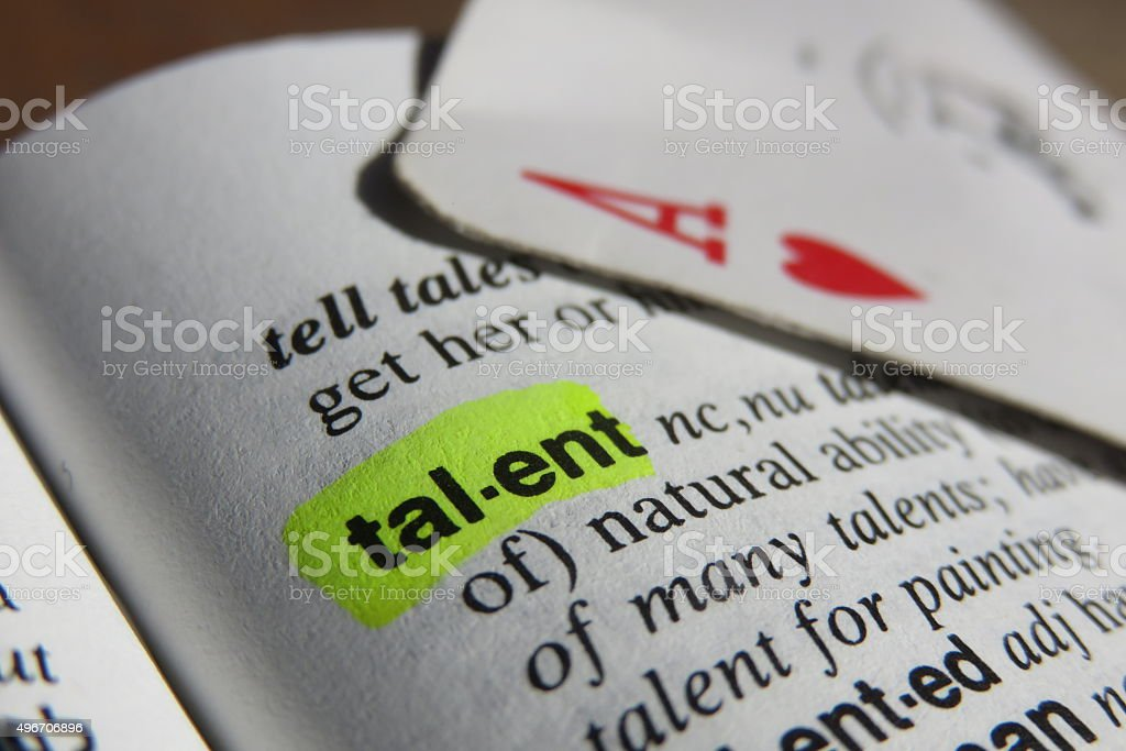 Talent - dictionary definition stock photo