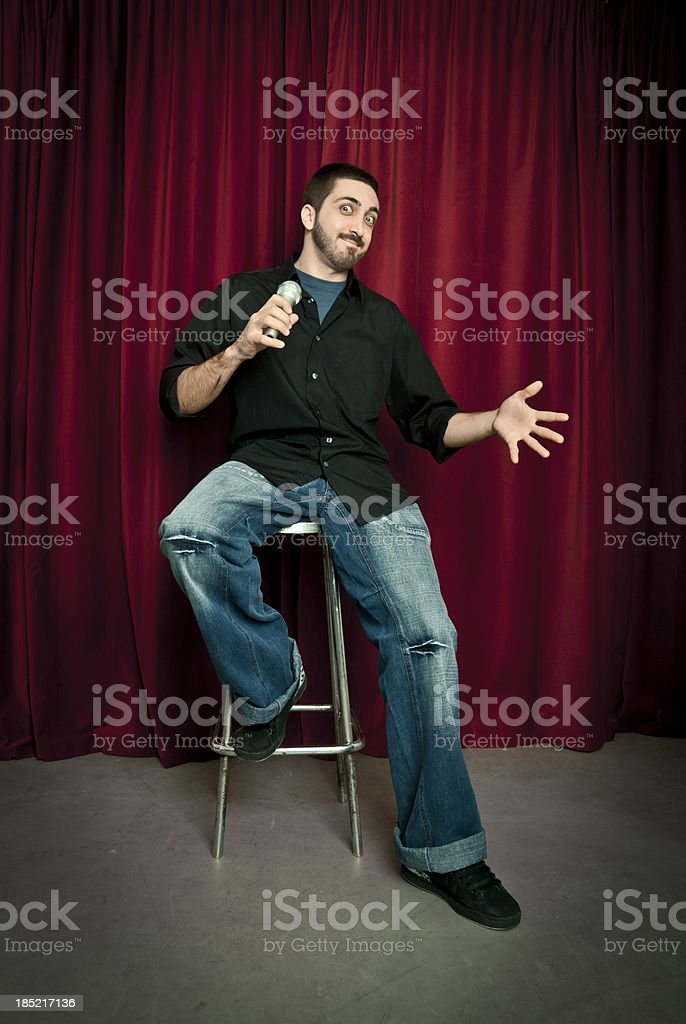 Talent show. stock photo